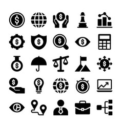finance icons pack vector image