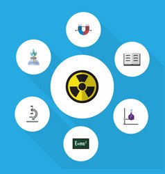 Flat icon science set of attractive force theory vector