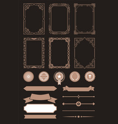 Frames collection vintage vector