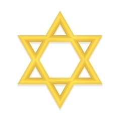 Golden hexagram icon vector