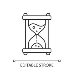 Hour glass linear icon vector