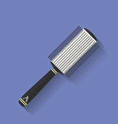 Icon of Comb hairbrush Flat style vector