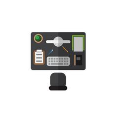 Isolated office desk flat icon bureau vector