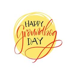 Lettering Groundhog Day vector