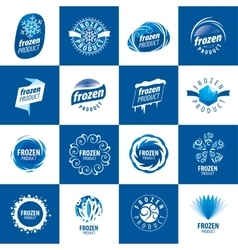 Logos for frozen products vector