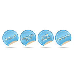 membership labels vector image