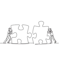 modern unity teamwork concept one continuous line vector image