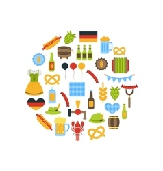 Oktoberfest Colorful Symbols vector image