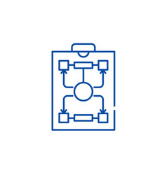 organizational structure line icon concept vector image