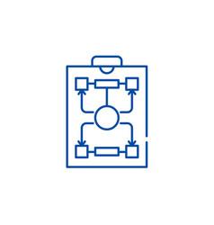 Organizational structure line icon concept vector