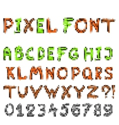pixel game font vector image