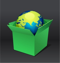 planet in the box vector image