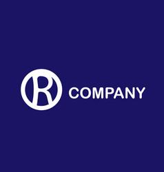 R cercle logo vector