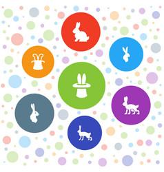 rabbit icons vector image