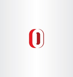 Red letter o number zero 0 logo icon design vector