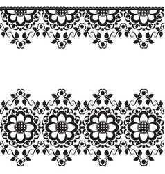seamless indian mehndi border element with vector image