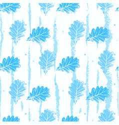 seamless pattern with contour lacy light blue vector image