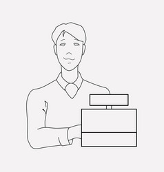 seller icon line element of vector image