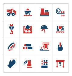 Set color icons of metallurgy vector