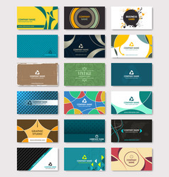 set of creative business card bundle design vector image