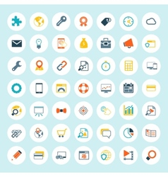 Set seo icons vector