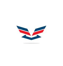 Shape wing emblem america logo vector