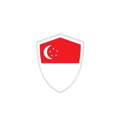 Singapore flag emblem template design vector