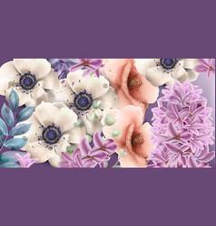 spring flowers watercolor vintage vector image
