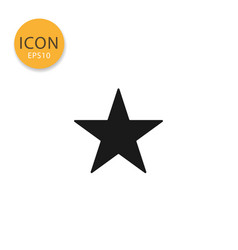 star icon isolated flat style vector image