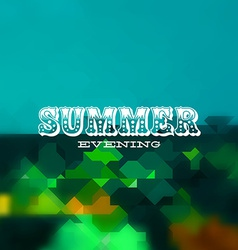 Summer evening card vector image