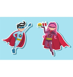 Superhero boys vector image