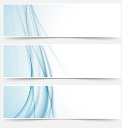 Swoosh blue modern abstract web element set vector image