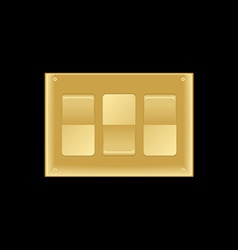 Triple light switch vector