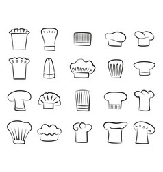 uniform part hat colorless vector image