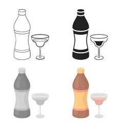 Vermouth icon in cartoon style isolated on white vector