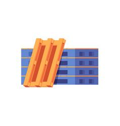 warehouse storage pallets for transportation flat vector image