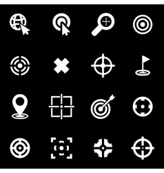 white target icon set vector image