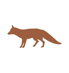 Wild fox animal flat silhouette vector