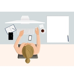 Working woman vector