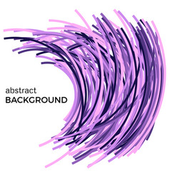 Background with colorful curved lines vector