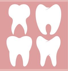 dental design teeth set vector image vector image