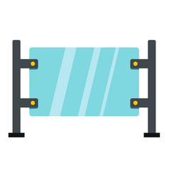 glass gate icon isolated vector image