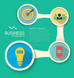 infographic business design template vector image vector image