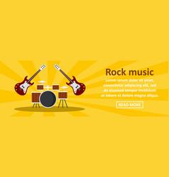 rock music banner horizontal concept vector image