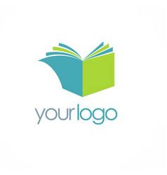 book knowledge logo vector image
