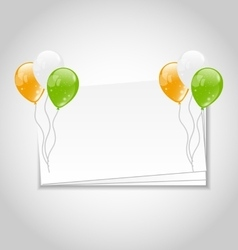 Celebration Card with Balloons vector image vector image