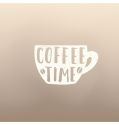 Coffe time cup vector image vector image