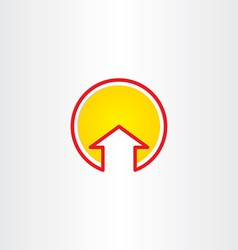 house or arrow up symbol vector image