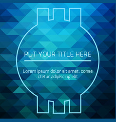 hypnotic blue futuristic template vector image vector image
