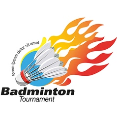 shape Badminton tournament logo event vector image vector image